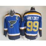 Men's St. Louis Blues #99 Wayne Gretzky 2014 Blue Throwback CCM Jersey