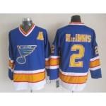 Men's St. Louis Blues #2 Al MacInnis Blue Throwback CCM Jersey