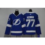Women Tampa Bay Lighting #77 Victor Hedman Blue Adidas Jersey
