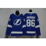 Women Tampa Bay Lighting #86 Nikita Kucherov Blue Adidas Jersey