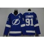 Women Tampa Bay Lighting #91 Steven Stamkos Blue Adidas Jersey