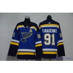 Youth St. Louis Blues #91 Vladimir Tarasenko Blue Adidas Jersey