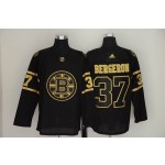 NHL Boston Bruins #37 Patrice Bergeron Black Gold Adidas Jersey
