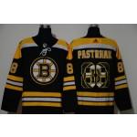 NHL Boston Bruins #88 David Pastrnak Black Team Logo Adidas Jersey