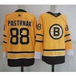 Boston Bruins #88 David Pastrnak Yellow Men's Adidas 2020-21 Reverse Retro Alternate NHL Jersey
