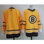 NHL Bruins Blank Yellow 2020-21 Reverse Retro Adidas Jersey
