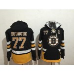 NHL Boston Bruins #77 Ray Bourque Black All Stitched Hooded Sweatshirt