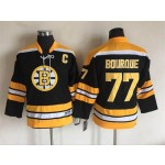 Youth Boston Bruins #77 Ray Bourque Black CCM Vintage Throwback Jersey