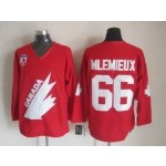 NHL 1991 Team Canada Olympic #66 Mario Lemieux Red Throwback jersey