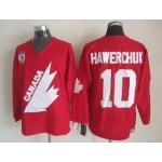 NHL 1991 Team Canada Olympic #10 Dale Hawerchuk Red Throwback jersey