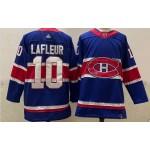 Montreal Canadiens #10 Guy Lafleur Blue Men's Adidas 2020-21 Reverse Retro Alternate NHL Jersey