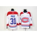 NHL Montreal Canadiens #31 Carey Price White Adidas Jersey