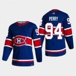NHL Montreal Canadiens #94 Corey Perry Blue Men's Adidas 2020-21 Reverse Retro Alternate NHL Jersey