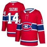 Men's Montreal Canadiens #14 Nick Suzuki Red Stitched NHL Jersey