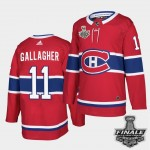 Men's Montreal Canadiens #11 Brendan Gallagher Red Home Authentic 2021 NHL Stanley Cup Final Patch Jersey