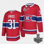 Men's Montreal Canadiens #31 Carey Price Red Home Authentic 2021 NHL Stanley Cup Final Patch Jersey