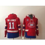 NHL Montreal Canadiens #11 Brendan Gallagher Red All Stitched Hooded Sweatshirt