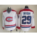 Men's Montreal Canadiens #29  Ken Dryden White Throwback CCM Jersey