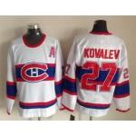 Men's Montreal Canadiens #27 Alexei Kovalev White Throwback CCM Jersey