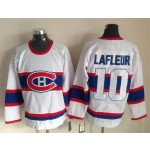 Men's Montreal Canadiens #10 Guy Lafleur White third Throwback Jersey