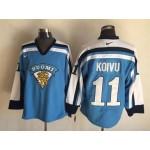 Men's Montreal Canadiens #11 Saku Koivu Blue Throwback Jersey