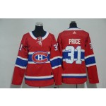 Women Montreal Canadiens #31 Carey Price Red Adidas Jersey