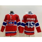 Youth Montreal Canadiens #15 Jesperi Kotkaniemi Red Adidas Jersey