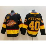 NHL Vancouver Canucks #40 Elias Pettersson Black 50th Season Adidas Jersey