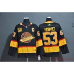 NHL Vancouver Canucks #53 Bo Horvat Black with C patch 50th Season Adidas Jersey