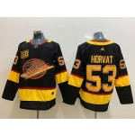NHL Vancouver Canucks #53 Bo Horvat Mogilny Black 50th Season Adidas Jersey