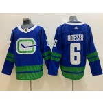NHL Vancouver Canucks #6 Brock Boeser Blue Third Adidas Jersey
