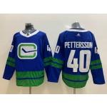 NHL Vancouver Canucks #40 Elias Pettersson Blue Third Adidas Jersey