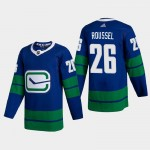 Men's Vancouver Canucks #26 Antoine Roussel Blue Adidas 2020-21 Player Alternate NHL Jersey