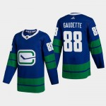 Men's Vancouver Canucks #88 Adam Gaudette Blue Adidas 2020-21 Player Alternate NHL Jersey