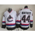 Men's Vancouver Canucks #44 Todd Bertuzzi 1997-98 White CCM Throwback Jersey