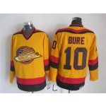 Men's Vancouver Canucks #10 Pavel Bure 1985-86 Yellow CCM Throwback Jersey