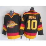 Men's Vancouver Canucks #10 Pavel Bure 1985-86 Black CCM Throwback Jersey
