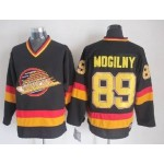 Men's Vancouver Canucks #89 Alexander Mogilny Black Throwback CCM Jersey