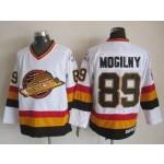 Men's Vancouver Canucks #89 Alexander Mogilny White Throwback CCM Jersey