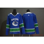 Women Vancouver Canucks Blank Blue Adidas Jersey