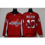 NHL Washington Capitals #43 Tom Wilson Red Team Logo Adidas Jersey