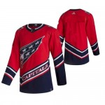 Men's Washington Capitals Team Red Custom 2021 Reverse Retro Jersey (remark name and number in comment column)