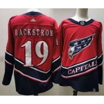 Men's Washington Capitals #19 Nicklas Backstrom Red 2021 Reverse Retro Jersey