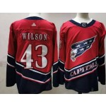 Men's Washington Capitals #43 Tom Wilson Red 2021 Reverse Retro Jersey