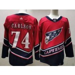 Men's Washington Capitals #74 John Carlson Red 2021 Reverse Retro Jersey