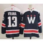 Men's Washington Capitals #13 Jakub Vrana Navy New Third Adidas Jersey