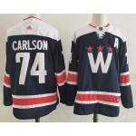Men's Washington Capitals #74 John Carlson Navy New Third Adidas Jersey