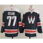 Men's Washington Capitals #77 T.J. Oshie Navy New Third Adidas Jersey