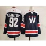 Men's Washington Capitals #92  Evgeny Kuznetsov Navy New Third Adidas Jersey