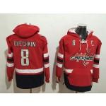 NHL Washington Capitals #8 Alex Ovechkin Red All Stitched Hooded Sweatshirt